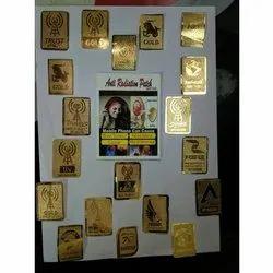 Golden Rectangular Anti Radiation Chip