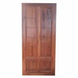 Hinged Pinewood Modern Teak Wood Door
