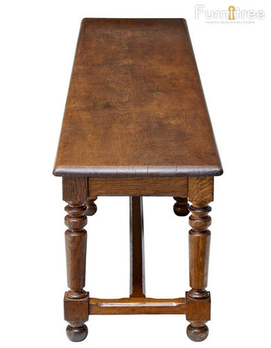 Wood Polish Antique And Classical Wooden Bench, Size: Custom