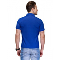 Mens Blue Polo Collar T Shirt