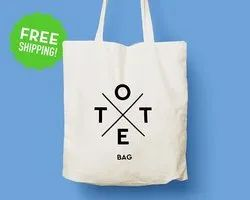 Cotton Tote Bags / Drawstring Bags from India - Grocery Bags with Logo Print
