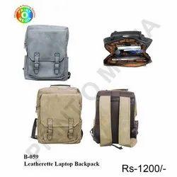 Leatherette Laptop Backpack