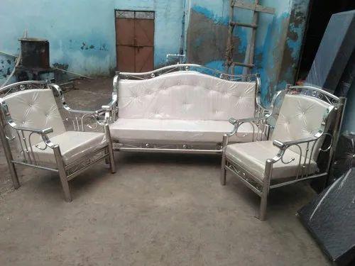 Polished Stainless Steel Designer Sofa Set Rs 13000 Set S R Steel Enterprises Id 14256321912