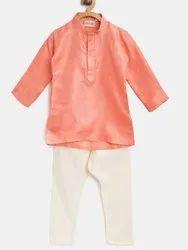 Ethnic Grace Kurta Pajama For Baby Boy- Peach