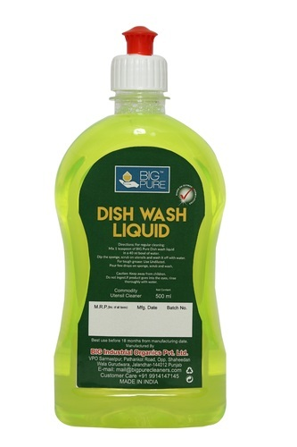 Dish Wash Liquid, Packaging: Plastic Bottle, Rs 90 /milliliter BIG  Industrial Organics Private Limited | ID: 19595273530