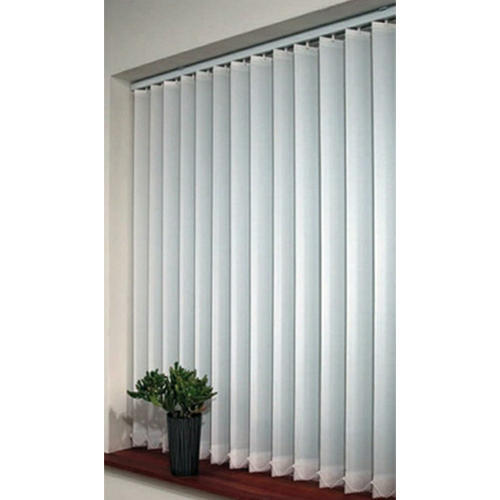 Wood White Vertical Blinds