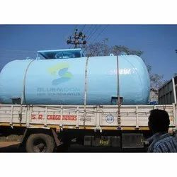 Bluemoon Blue FRP Lining Tank, For Industrial, Storage Capacity: 1000-5000L
