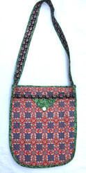 Handled Printed Cotton Bag, Size: 35x40 cm