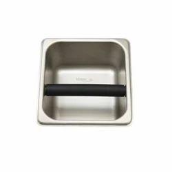 Brushed Silver Knock Box, For Restaurent, Hotel