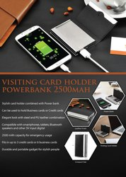 Visiting Card Holder Powerbank 2500mah - Giftana