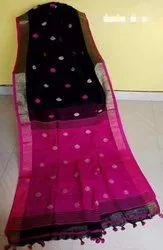 Khadi Soft Cotton Saree With Blouse