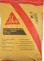 Building Coating White Sika Wall Putty, Packaging Size: 40 Kg, Packaging Type: Bag