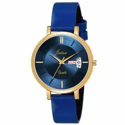Jainx Blue Day And Date Functioning Analog Watch For Women's - JW 1208