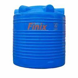 Blue Round Plastic Water Storage Tank