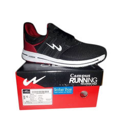 Campus Black And Red Designer Running Shoes, Size: 7
