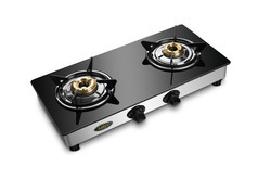 Double Burner Glass Top Gas Stove