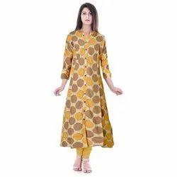 Rayon Casual Wear Printed Kurti