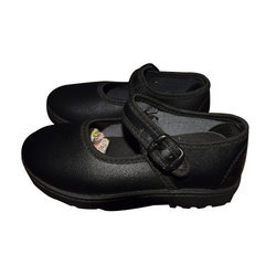 Girls Black School Shoes, Packaging: Box