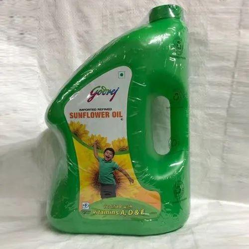 5 Ltr Godrej Refined Sunflower Oil, Packaging Type ...