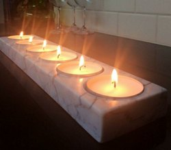 RAWSOME SHACK marble candle holder