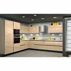 Trendy L Shaped Modern Kitchen