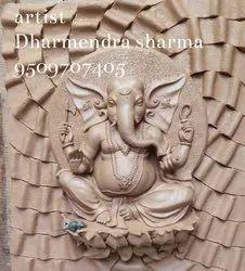 Fiberglass Ganesha mural