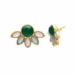 Chalcedony Earring Multi Gemstone Earring