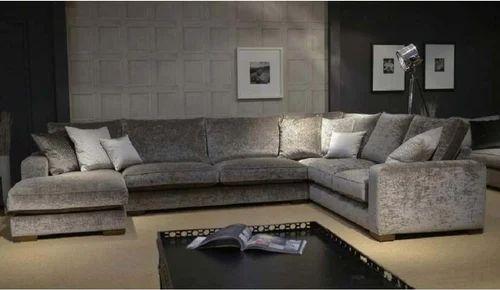 Grey Jenikasdecor U Shape Sofa Set, Warranty: More Than 5 Year