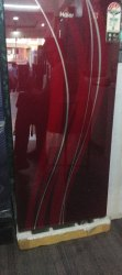 Red 4 Star Haier Refrigerator, Capacity: 200 L
