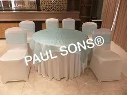 Tables And Chair Covers With Bow