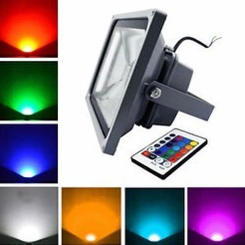 Aluminium S-TEC 50 Watt RGB LED Flood Light, 10 Watt