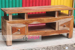 JANGID ART AND CRAFTS Sheesham Wood Finish Sheesham Wooden TV Cabinet, Warranty: Manufacturers Warranty, Hotel Room Furniture