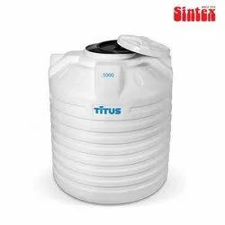 Sintex Plastic Titus Water Tank, Capacity: 1000 L