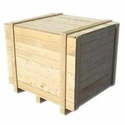 2 Way Brown Wooden Pallet Box, For Industrial, Capacity: 100-10000 Kg