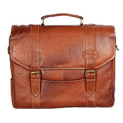 Polyurathane Brown Executive Laptop Bag