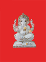 Stting Ganpati On Lotus Marble Statue