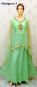 Net Stone Work Indo Western Gowns for Ladies