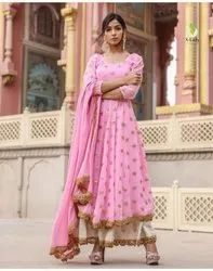 8 Colors Available plazzo Georgette Party Wear Suit