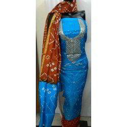 Fancy Bandhej Art Silk Suit