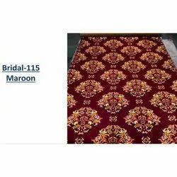 Rectangular Maroon Printed Carpet, For Wedding, Exhibition