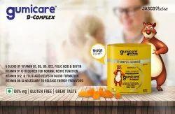 Vitamin B1 B5 B6 B21 Folic Acid Biotin Gummies Mango Flavour