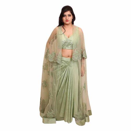 e1a362ade2 Stitched Party Wear Long Jacket Lehenga Choli, Rs 11995 /piece   ID ...