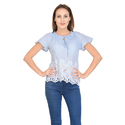 Cotton Casual Ladies Half Sleeve Top, Size: S, M, L, Xl, Xxl