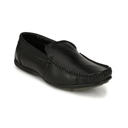 Men's Black Leather Loafer Shoes