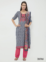 Riveting Cotton Embroidered Churidar Salwar Kameez