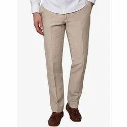 Regular Fit Plain Mens Cotton Trouser, Packaging Type: Packet