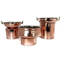 Copper Finished Hammered Riser Set