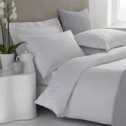 Hotel White Plain Satin Duvet Cover