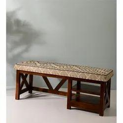 Handmade Wooden Upholstered Bench