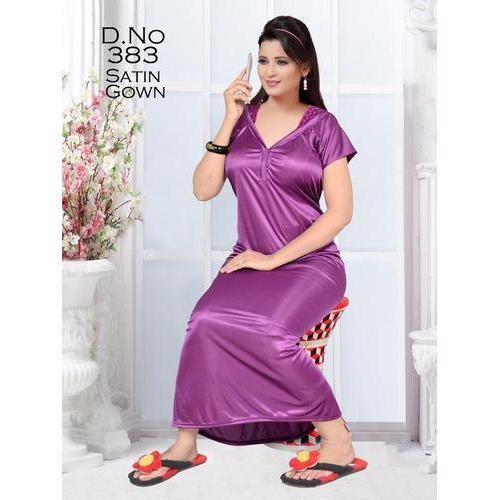 Satin Nightgowns - Plain Satin Nightgown Manufacturer from Ahmedabad 1dd5bc236